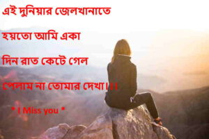 Bangla Miss You sms Best Bengali Miss You Shayari